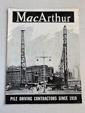 New Listingvtg Macarthur Concrete Pile Driving Advertising Brochure Construction Equipment