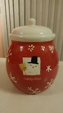 Hallmark Christmas Cookie Jar Snowman Merry Days NEW