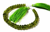 """1 Strand Natural Peridot Rondelle Smooth 7-9mm Gemstone Beads 7""""inch"""