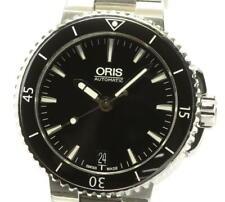 ORIS Aquis 7652-04 Date black Dial Automatic Boy's Watch_565376