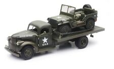 Jeep Willys avec Chevy remorque plateau 1941 1/32 New Ray