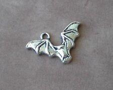 20 Flying Bat Wings Charm Pendants Jewelry Making Halloween Bats Charms Winged