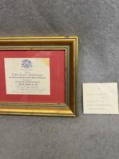 VINTAGE TICKET CANADA VISIT (THEN) PRINCESS ELIZABETH & DUKE OF EDINBURGH 1951