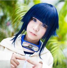 Hyūga Hinata Childhood Cosplay Party Wig Wig Cap Blue Short Hair