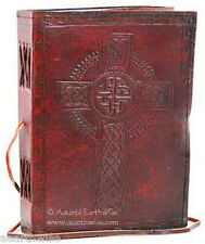 CELTIC CROSS LEATHER JOURNAL Witch Wicca Pagan Book of Shadows Goth Spell
