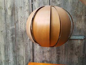 Holzlampe, Kugellampe, 70er Jahre, Teakholzlampe, Danish Design, Vintage