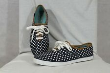 Women's 7 Keds Champion Polka Dot Navy Blue White Casual Canvas Sneakers
