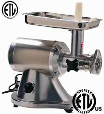 NEW Commercial Deli Meat Grinder Stainless Steel NSF & ETL Approved 1.1 HP Motor