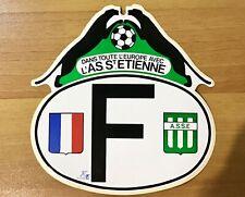 autocollant ancien ASSE St ETIENNE COUPE D'EUROPE 1976 FOOTBALL TBE