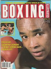 BOXING ILLUSTRATED MAG SUGAR RAY LEONARD BOXING HOFer COVER OCTOBER 1990
