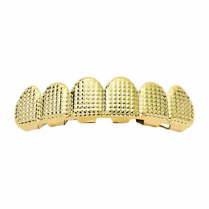 Copper Mouth Grill for Mouth Top Bottom Hip Hop Teeth Grills with Molding Bars,