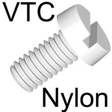 NYLON - VIS TETE CYLINDRIQUE fendue - M6 x80 (10)