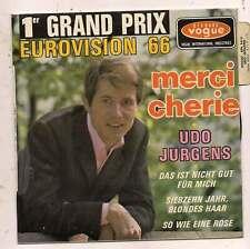 FRENCH  EP  UDO JURGENS GRAND PRIX EUROVISION 66 MERCI CHÉRIE LANGUETTE