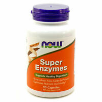 Now Foods SUPER ENZYMES 90 Caps - SUPPORTS HEALTHY DIGESTION