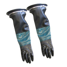 HEAVY DUTY 24'' LONG SAND BLAST CABINET GLOVES W/GLOVE HOLDERS AND CLAMPS
