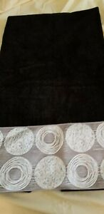 Bathroom towel set with embellished edges new-used for decoration only. Free Shp