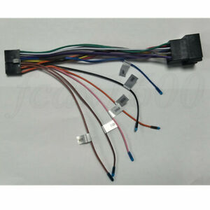 Universal 20PIN Car Stereo 1DIN 2DIN Android Radio ISO Power Cable Harness Plug