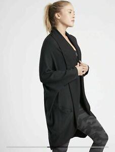 NWT ATHLETA Ethereal Cocoon Wrap - XS/XXS - Black - $89 Lifestyle Travel