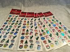 7 sheets of Christmas stickers. Metallic. New. 27 per sheet.