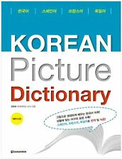 Korean Picture Dictionary Spanish French German with CD Vocabulary Book Language
