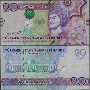 Turkmenistán, P32, B225a, 20 Banco, 2012 ,UNC, Af Prefijo @ Ebanknoteshop