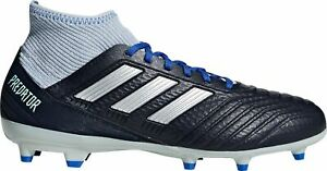 adidas Women's Predator 18.3 FG Soccer Cleats BD7299 Navy/Silver BX20