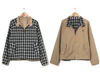 90s Vintage Mens POLO RALPH LAUREN Harrington Jacket Reversible Beige Size XL