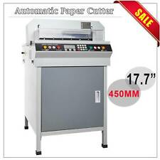 "Adjustable 17.7"" Automatic Paper Cutter 450mm Cutting Machine Heavy Duty Updated"