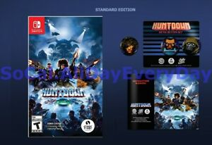 Huntdown with Printed Manual and Pin Set!! (Nintendo Switch, Physical) >>PRESALE