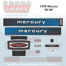 1978 Mercury 90 HP Outboard Reproduction 15 Piece Marine Vinyl Decals 900