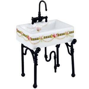 Small Victorian Rose Kitchen Sink Reutter 1.740/3 DOLLHOUSE Miniature