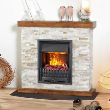 muenkel Design Galano Electric Fireplace Opti-Myst: Danville Black