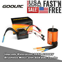 GoolRC 3650 4300KV Brushless Motor with 60A ESC Combo Set for 1/10 RC Car G0W7