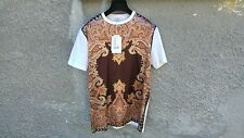 $685 Givenchy Satin Paisley Floral Birds of Paradise Oversized T-shirt size S
