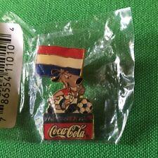 Vintage World Cup USA Coca-Cola 1994 Lapel Pin Netherlands Dog Mascot Soccer