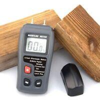Digital Wood Moisture Meter Humidity Tester Timber Damp Hygrometer Detector 2Pin