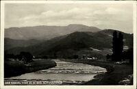 Berg Kandel im Schwarzwald alte Ansichtskarte 1936 Panorama mit Flusspartie Berg