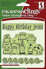 Inkadinkado Cling Stamps, Happy Birthday Jesus, Nativity Reason for the Season