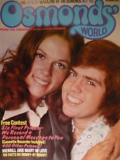 OSMONDS WORLD MAGAZINE - ISSUE 2 DEC 1973 - (INCLUDES OSMONDS POSTER)