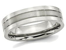 Para Hombre 6mm Banda de Acero Inoxidable COMFORT FIT WEDDING