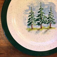 Balsam Fir Trees DINNER PLATE Julie Ueland 2003 Licensee ENESCO Group Pine Green