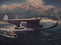 1944 Original Esquire Art WWII Era Martin JRM Mars Alexander Leydenfrost