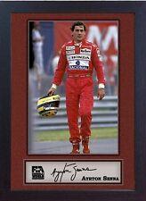 AYRTON Senna Firmato Autografato Memorabilia FORMULA 1 MCLAREN HONDA incorniciato 007