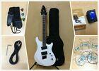 4/4 Haze 6FF WHT Fanned-Fret 6-String Electric Guitar,White +Free Gig Bag,Strap for sale