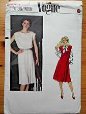 Vintage Vogue Sewing Patterns 8030 Misses' Dress or Jumper Size 10 Bust 83 cm
