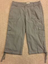 St. John's Bay Quality Apparel Gray Cargo Long Shorts Size 4P Stretch