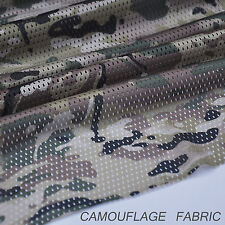 "2-YARDS Deep Multicam Pattern Camo Net Cover Military 60""W Mesh Fabric Cloth"