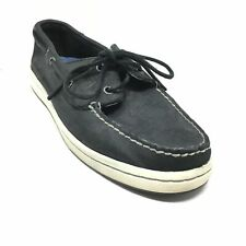 Men's Sperry Top-Sider Cup Boat Shoes Sneakers Size 9.5 Black Leather Casual E12