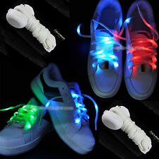 LED Shoe Laces 8 Colors Flash Light Up Glow Strap Shoelaces Party Queen UK Stock