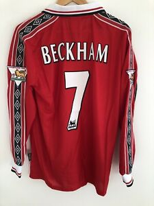 Manchester United Home 1998-1999 David Beckham #7 BRAND NEW Retro Football Shirt